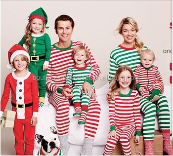 little girls christmas pajamas clothes soft cotton striped sleep wear kids christmas nightgown