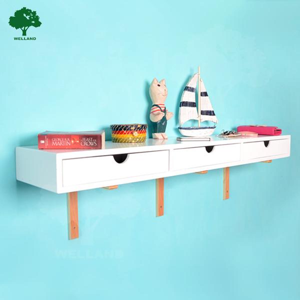 tag re murale en bois avec tiroir buy tag re murale en. Black Bedroom Furniture Sets. Home Design Ideas