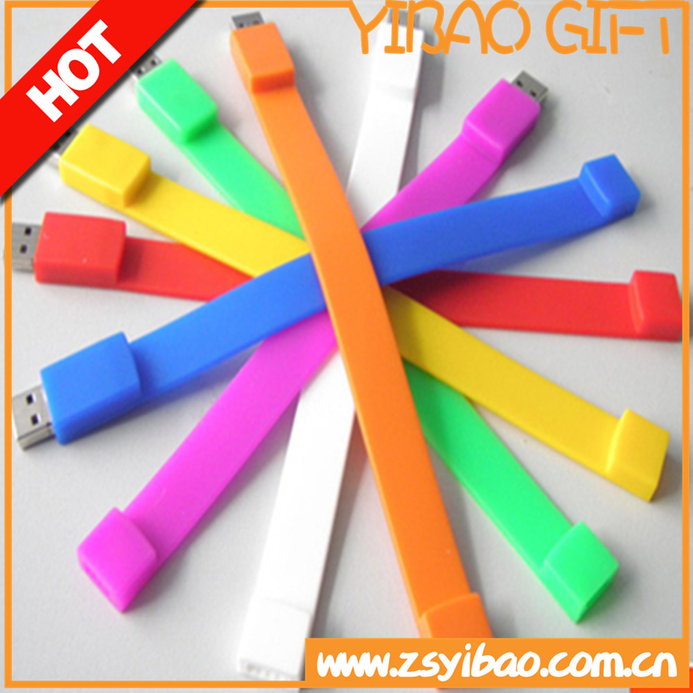 Hot Sale 8GB USB Flash Drive Silicone Bracelet Wrist Band
