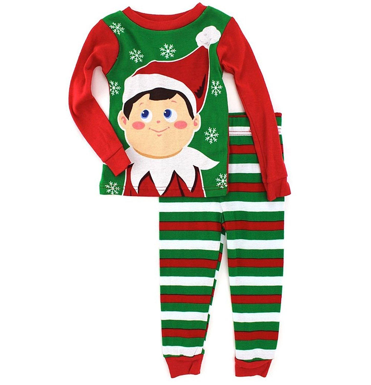 Get Quotations · Elf On A Shelf Christmas Tradition Toddler Boy s Cotton  Pajama Set aadbf29e7a