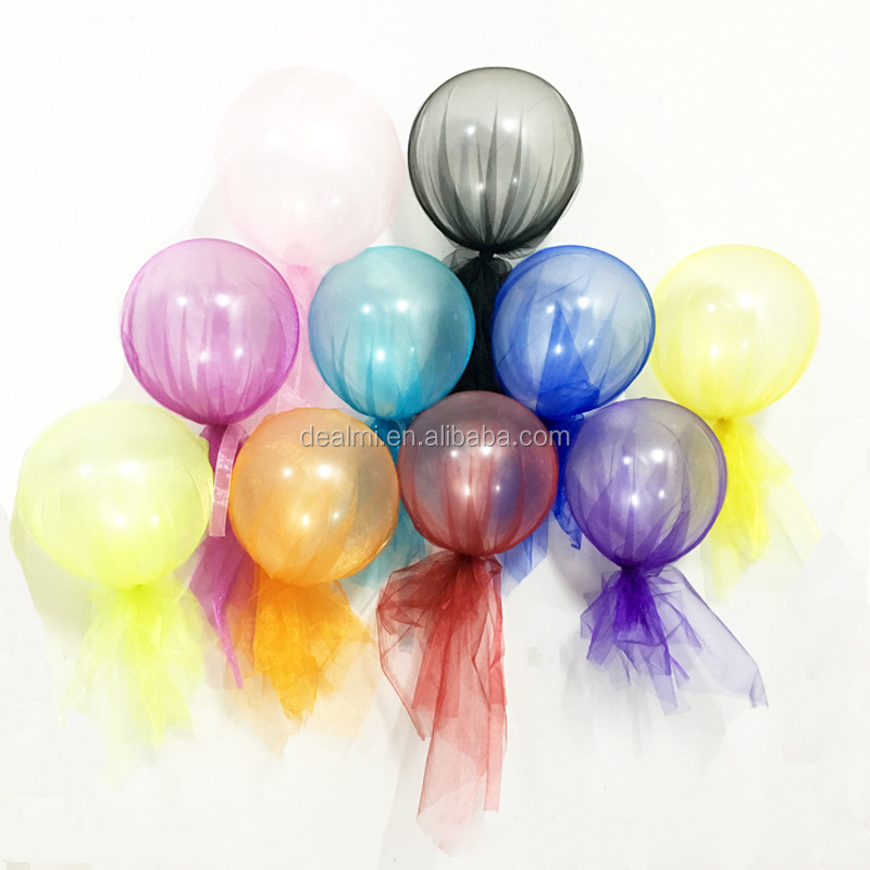 DEMIZXX1056 Wholesale Custom Different Colors PVC Material 12 Inches Free Shipping Party Use Voile Balloons Party Favours