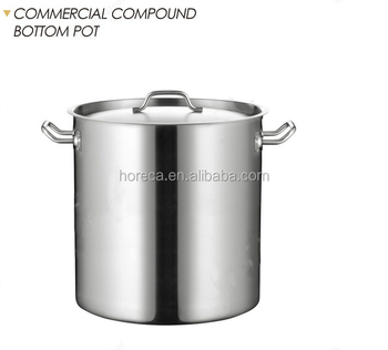 Highest Quality Kitchen Wares Stainless Steel Soup Low Pressure Cauldron  Stock Pot