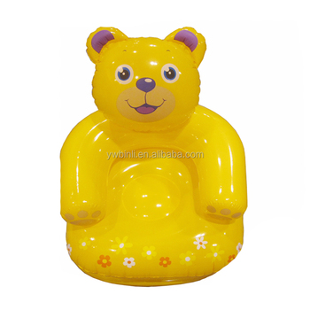 Astonishing Lovely Bear Design Inflatable Kids Chairs Yellow Color European Standard Buy Inflatable Chair Inflatable Sofa Chair Inflatable Football Sofa Chairs Pabps2019 Chair Design Images Pabps2019Com