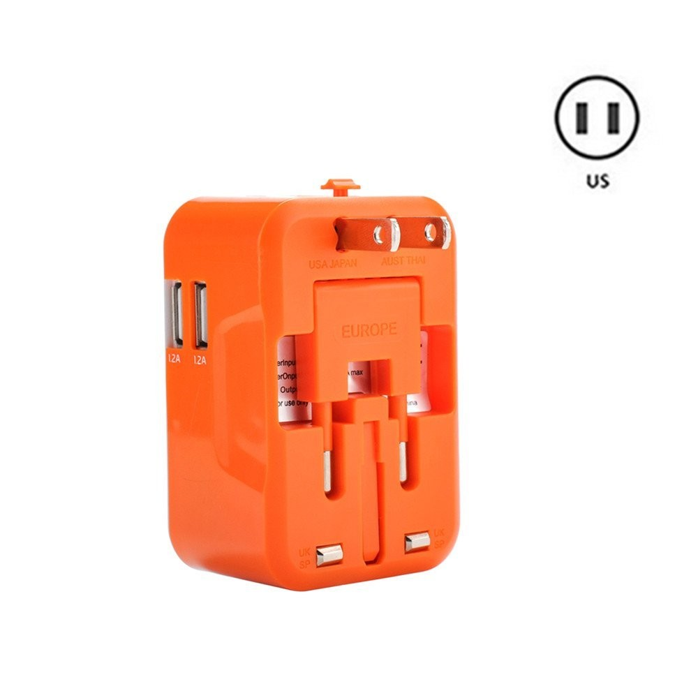 Us Au Eu Uk Travel Adapter Universal Travel Adapter Multi Plug Adapter With Dual Usb Buy Us Au
