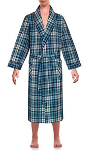 Wholesale Factory Mens Classical Sleepwear Woven Shawl Collar Morning Robe
