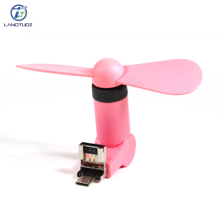 Wholesale OTG 2 in 1 Rotation USB Mini Mobile <strong>Fan</strong> for Smartphone and Computer