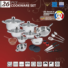 26PCS High quality stainless steel parini cookware prices