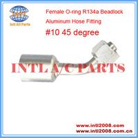 INTL-HF5208 #10 45 Degree Beadlock Aluminum O-ring Female R134a Hydraulic Hose Fitting
