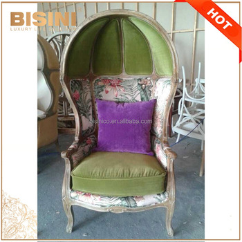 French Provincial Living Room Decor Birdcage Chair/ Vintage Limed ...