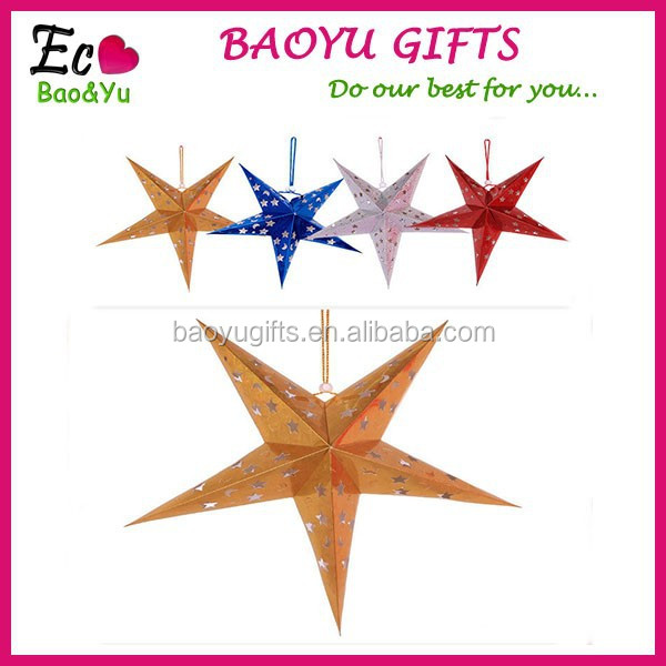 Christmas Tree Decoration Paper Material Hanging Stars Christmas Hanging Ornament&Decoration