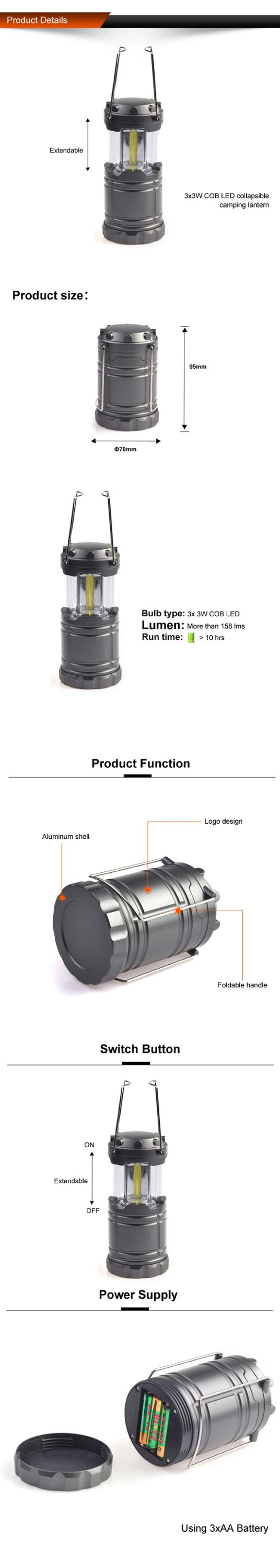Factory Cheapest Price Direct Manufacture Get a free sample OEM logo extermal benefits LED Camping Lantern Outdoor camping Light