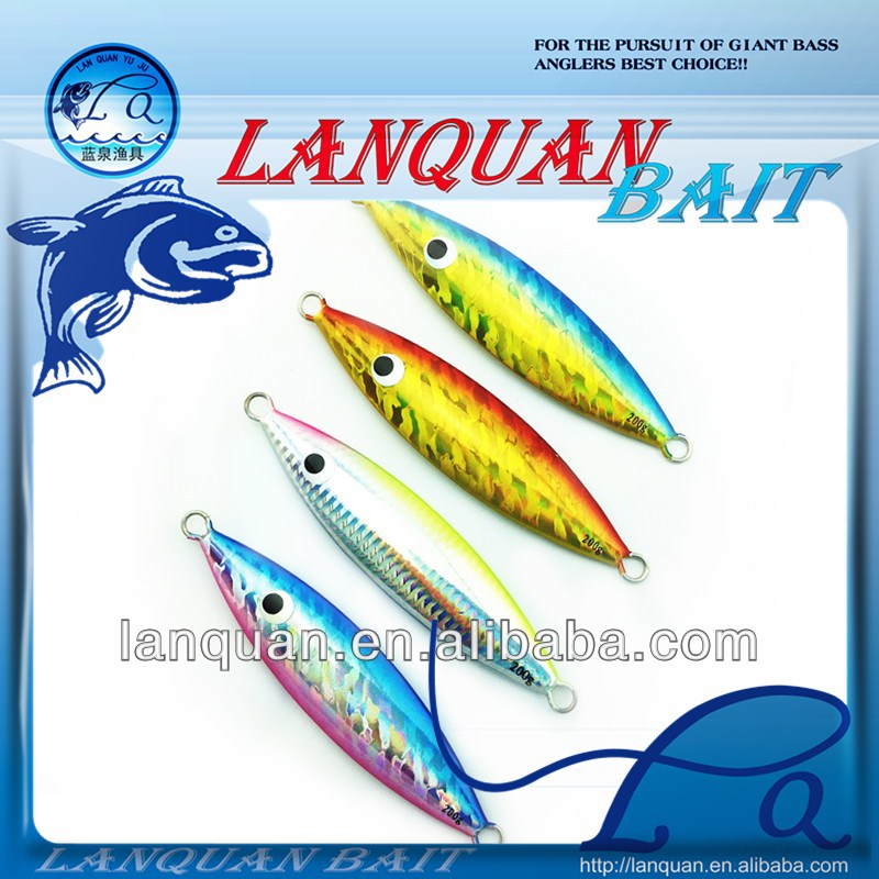 LAN QUAN Glow Flat-Fall Jig Luminous Fishing Jig Metal Fishing Lure LQL1309