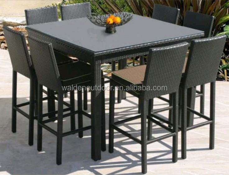Home Bar Furniture Outdoor Bar Table Seaside Wicker Bar Stool