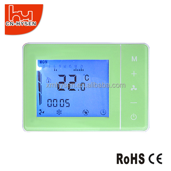 DIY Hotel Room Cooling Heating Green Color Thermostat