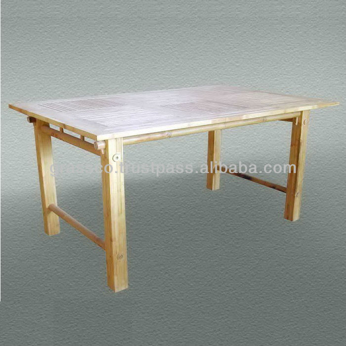 Genial Laminated Bamboo Dinner Table (020119)   Buy Bamboo Dinning Table,Bamboo  Outdoor Table,Bamboo Furniture Product On Alibaba.com