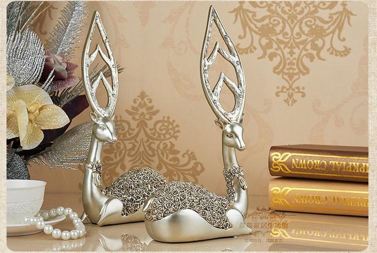 Wedding Statue Gifts: 1 Pc 32cm(12.6″) Resin Deer Figurine Fawn Statue Sculpture