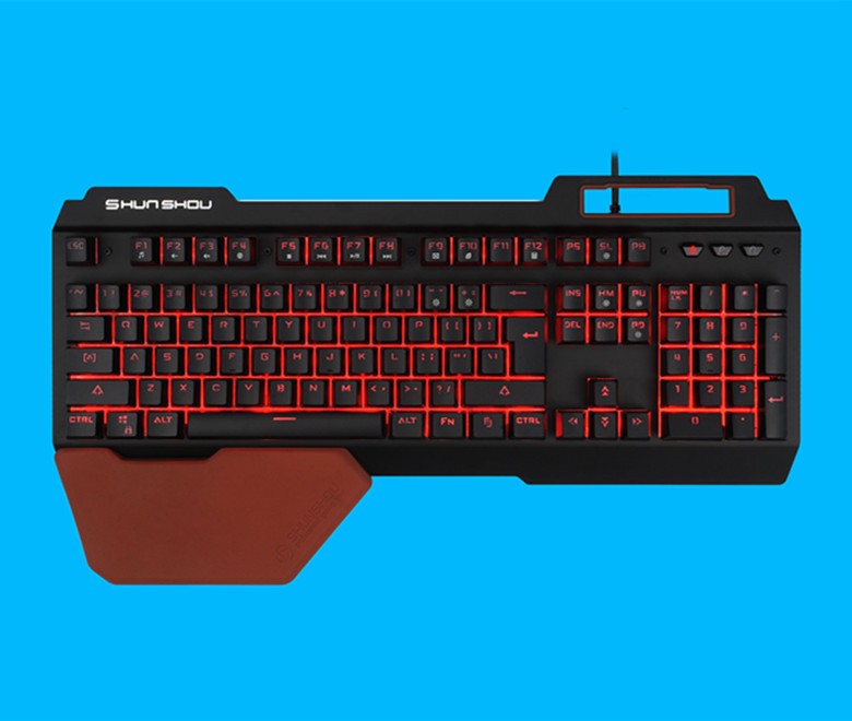 3 Colors Breathing LED Light Gaming Semi Mechanical Keyboard K610