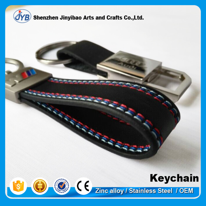 wholesale cheap price custom car logo pu leather keychain with logo
