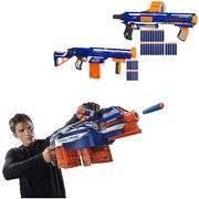 Nerf N-Strike Set of 3 Elite Blasters Value Bundle Hail-Fire Blaster Retaliator Blaster Rampage Blaster