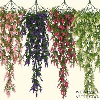 Artificial Lavender Flower Vines For Decoration , Buy Plastic Artificial  Flowers Vine,Wedding Decoration Vines,Decorative Vine/garland Product on