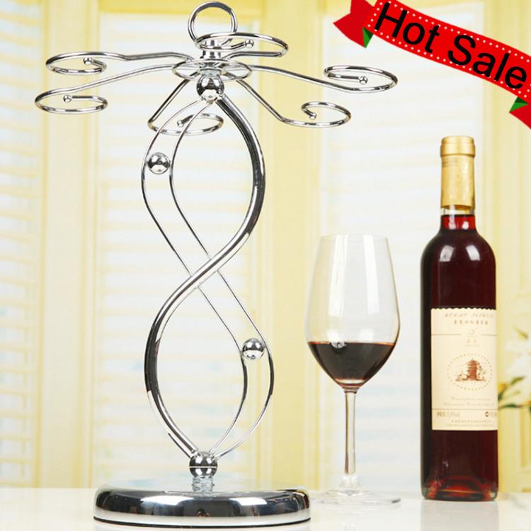 Stemware Racks Stainless Steel Tabletop Hanging Wine Glass Rack