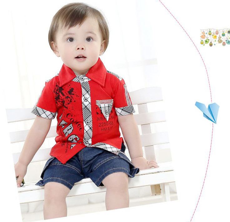 628d0987 Buy New arrived boy clothing set 2 pieces set fashion red t shirt+cowboy pants  baby boy suit for summer baby boy clothes KS15033 in Cheap Price on ...