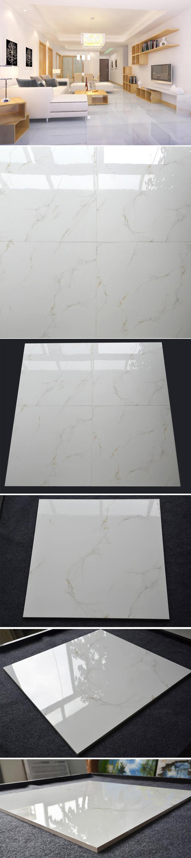 HB6248 blanco estupendo nano pulido azulejos de porcelana 600x600