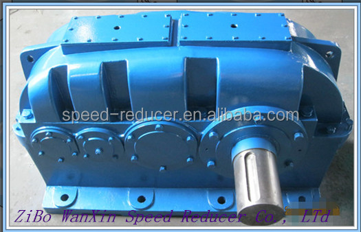 2, 3 speed parallel shaft helical gearbox gear reducer for pipe drawing bench machine