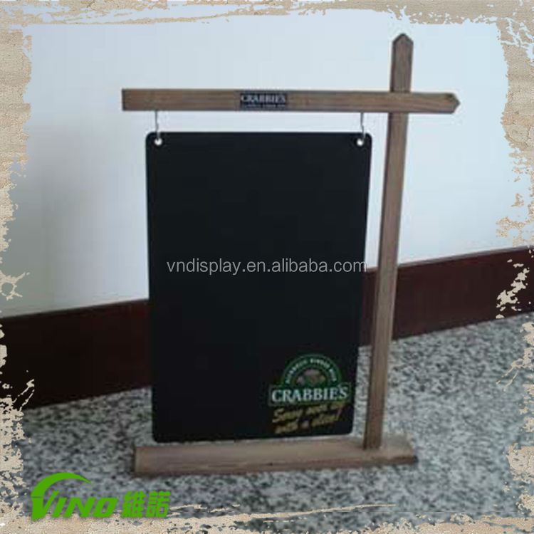 Unique Swinging Table Top Signs Wood Balckboard With Stand Decorative  Chalkboards With Stand