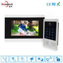7 Inch Promotion 4 wire video door phone, doorbell, video intercom system Villa