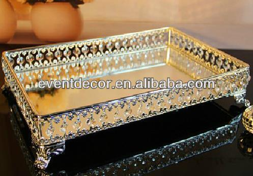 India wedding decoration silver trays ,glass food trays for hotel& event suppliers