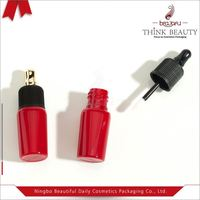 New product black, red 10ml individual mini lip gloss bottle/container,empty lip gloss case