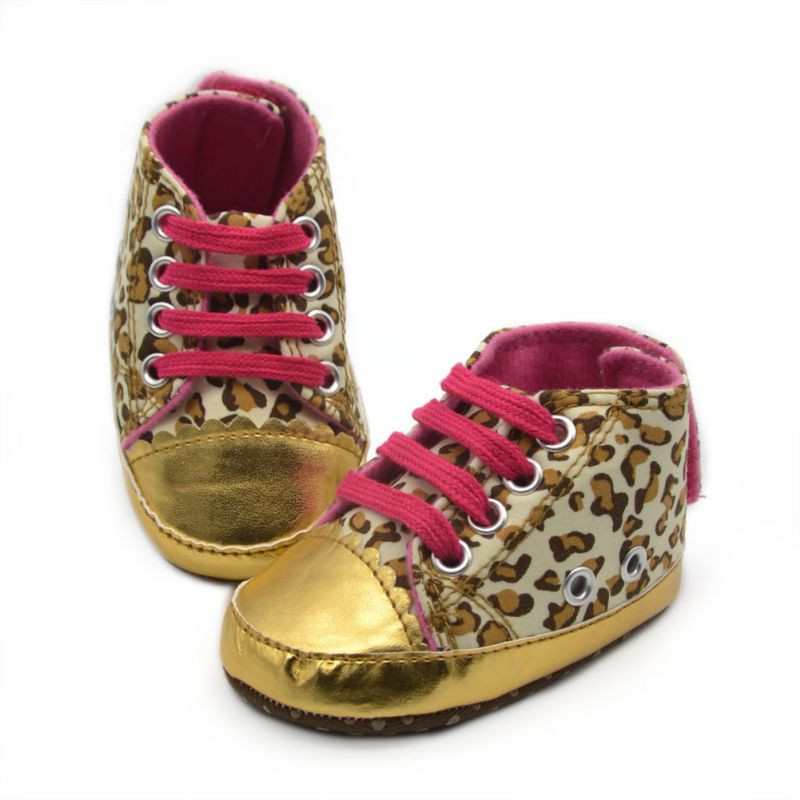 Gold Baby Walking Shoes