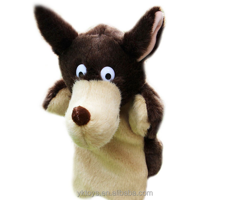 Childhood Soft Toy Wolf Shape Hand Puppet
