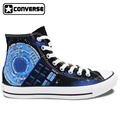 Doctor Who Tardis Converse All Star Womens Mens Shoes Hand Painted Canvas Skateboarding Shoes Man Woman