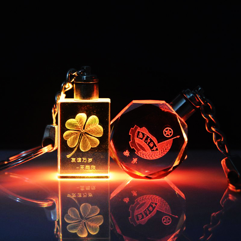 Blank custom promotional make your own christmas cheap pocket metal printed acrylic love flower led keychain  for engraving logo