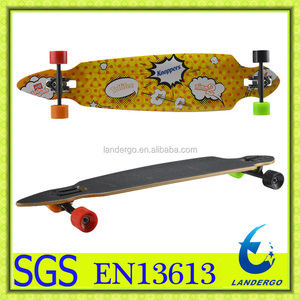 Classic Pintail Shape Canadian Maple Longboard Compete Skateboard