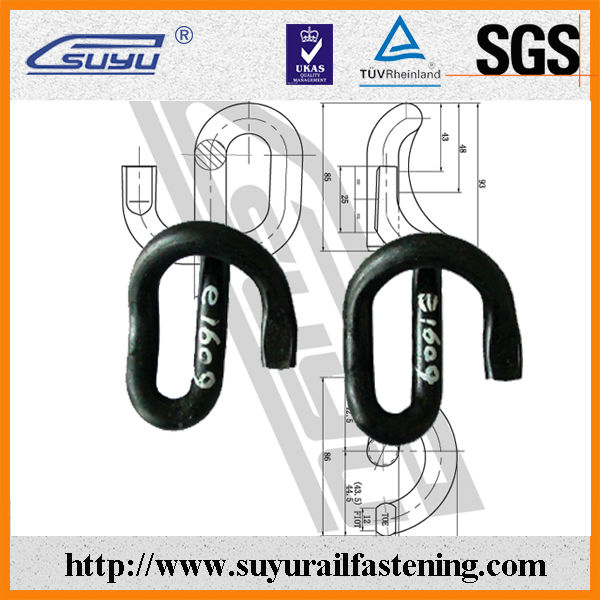 Railroad e type clip, suyu railway fastener, made in china
