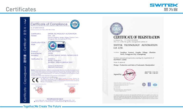 CE Certified single axial servo robot arm, injection molding robot arm,  View robot arm, Switek Product Details from Dongguan Switek Technology