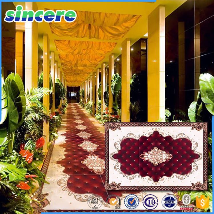 Alfombra piso azulejo de la pared para el vestíbulo del hotel ...