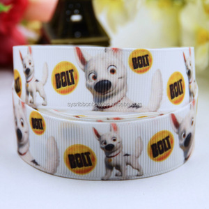 wholesale and retail bolt printed grosgrain ribbon