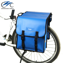 B4033 PVC Side Double Rear Bag Bike Seat Folding Delivery Traveling Travel Touring Bicycle Carrier Pannier