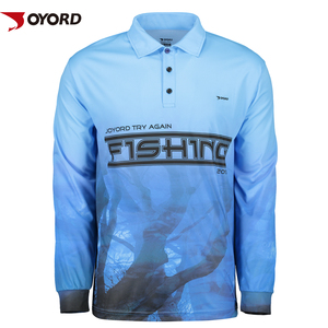Manufacturer custom quick dry fishing shirt 100% polyester uv dye sublimation fishing shirt