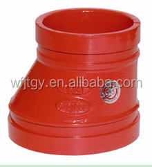 FM&UL Approved Ductile Iron pipe fitting eccentric reducer