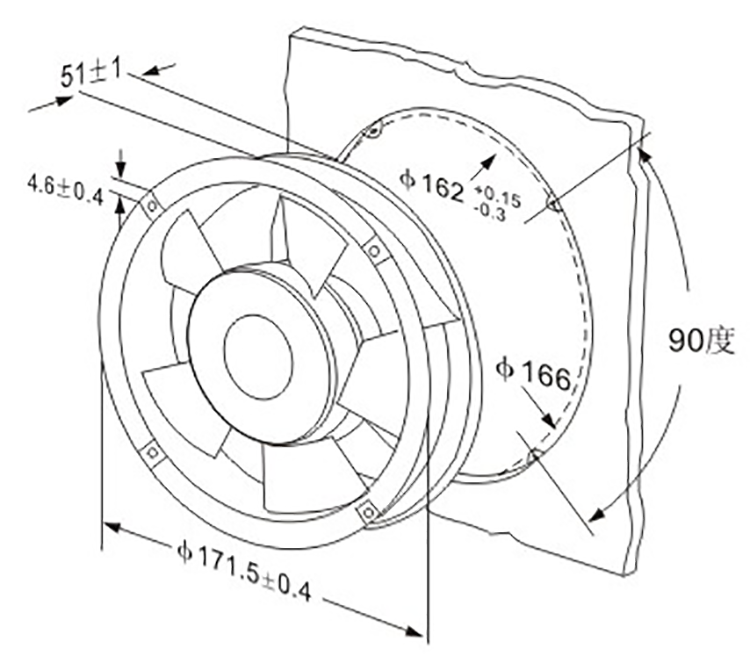 Most Popular 120x120x25mm 110 Volt Cooling Fan