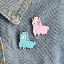Cartoon Animal Sheep Enamel Pins Icons Collar Brooches for Women Lapel Pin Brooch Jewelry Clothing Bag Accessories