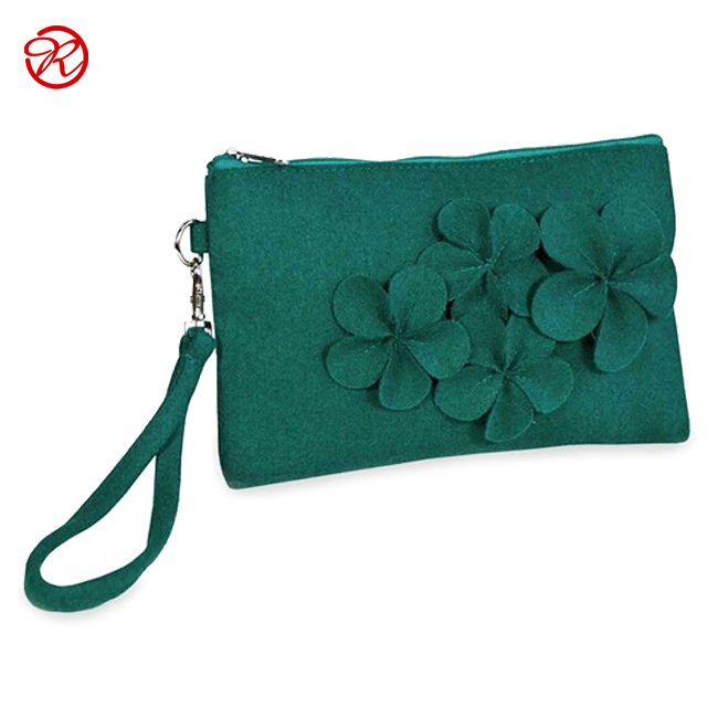 Hot New High Quality Applique Women Felt Shopping Bag,Felt Hand Bag