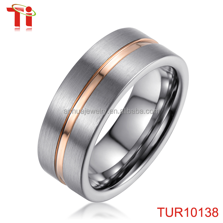 fashion jewellery wedding ring mens silver tungsten brushed with gold youth baseball championship rings father's day gift bands