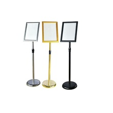 2019 goldene farbe boden stehen A4 A3 A2 metall display stand