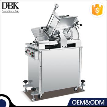 Stand up design Can be fixed or Movable full automatic meat slicer machine with overheating protection